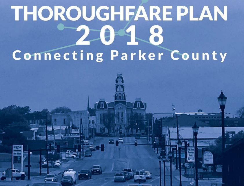 Image of theThoroughfare Plan cover page sowing Parker County Courthouse